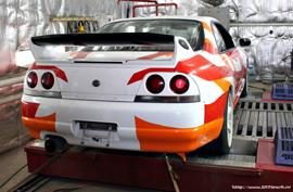 GT-R on Dyno